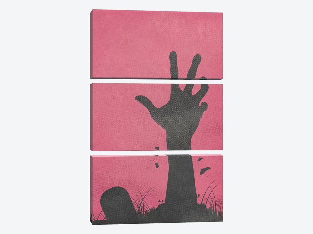 Don't Whistle By The Cemetery by 5by5collective 3-piece Canvas Wall Art