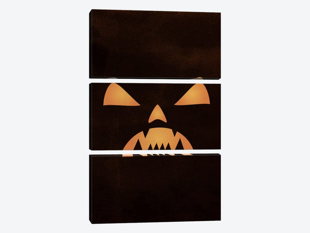 The Nightmare Of The Jack-O'-Lantern Lantern by 5by5collective 3-piece Canvas Wall Art
