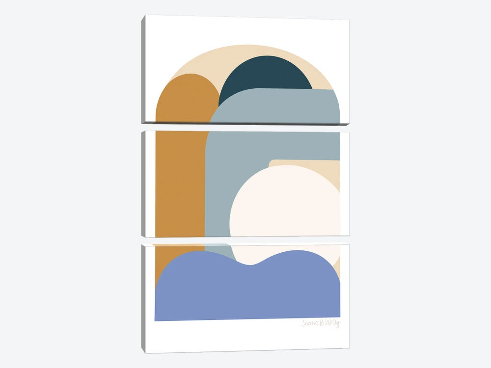 Seaside Dome 2 by Figure Form 3-piece Canvas Wall Art