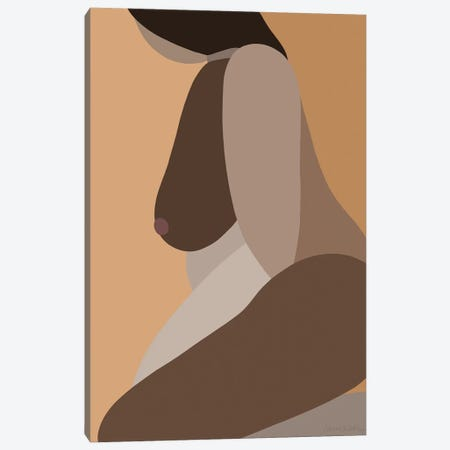 Self-Portrait Otherwise - Dark Canvas Print #FGF29} by Figure Form Canvas Artwork