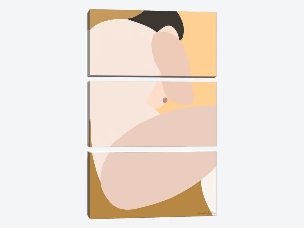 Self-Portrait Still - Light by Figure Form 3-piece Canvas Art Print