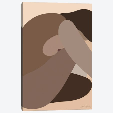Self-Portrait Without - Dark Canvas Print #FGF33} by Figure Form Canvas Print