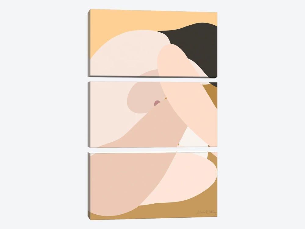 Self-Portrait Without - Light by Figure Form 3-piece Canvas Print