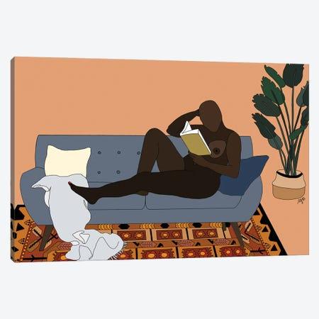 Womxn Reading A Memoir Canvas Print #FGF43} by Figure Form Canvas Artwork