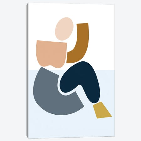 Womxn Before Mountain Canvas Print #FGF49} by Figure Form Canvas Artwork