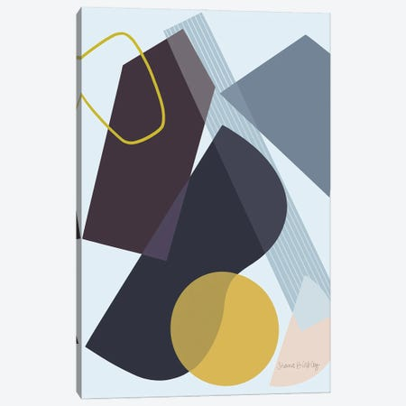 Deconstruction With Blue Canvas Print #FGF55} by Figure Form Canvas Artwork