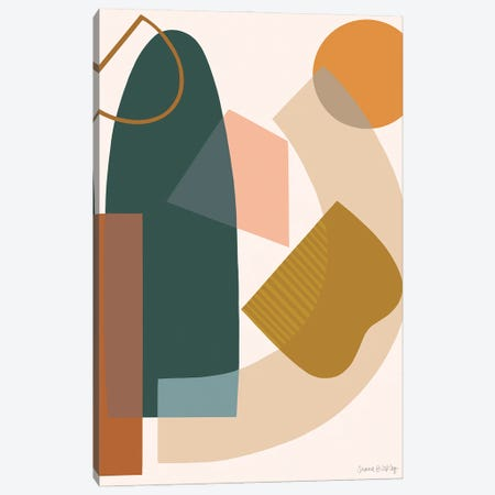 Deconstruction With Spruce Canvas Print #FGF57} by Figure Form Canvas Wall Art