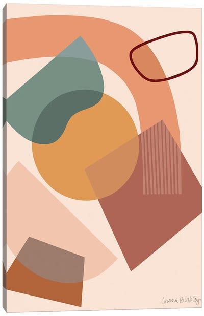 Deconstruction With Peach Canvas Art Print