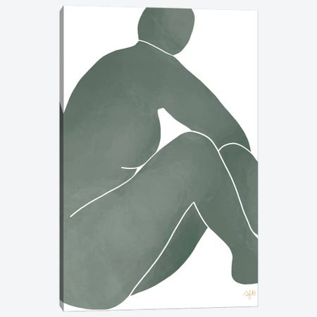 Figure Turning Canvas Print #FGF64} by Figure Form Art Print