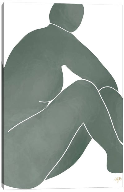 Figure Turning Canvas Art Print