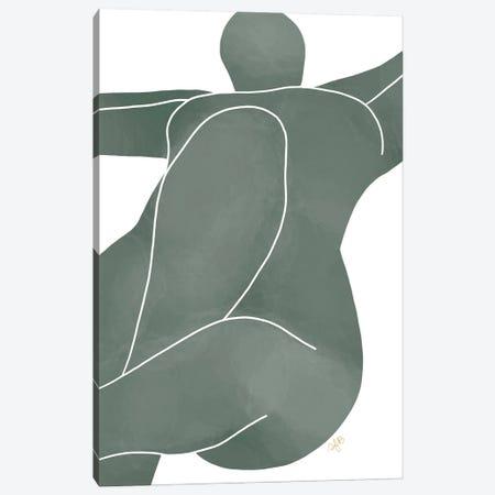 Figure Lying Canvas Print #FGF66} by Figure Form Art Print