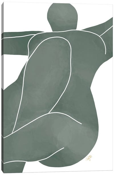 Figure Lying Canvas Art Print