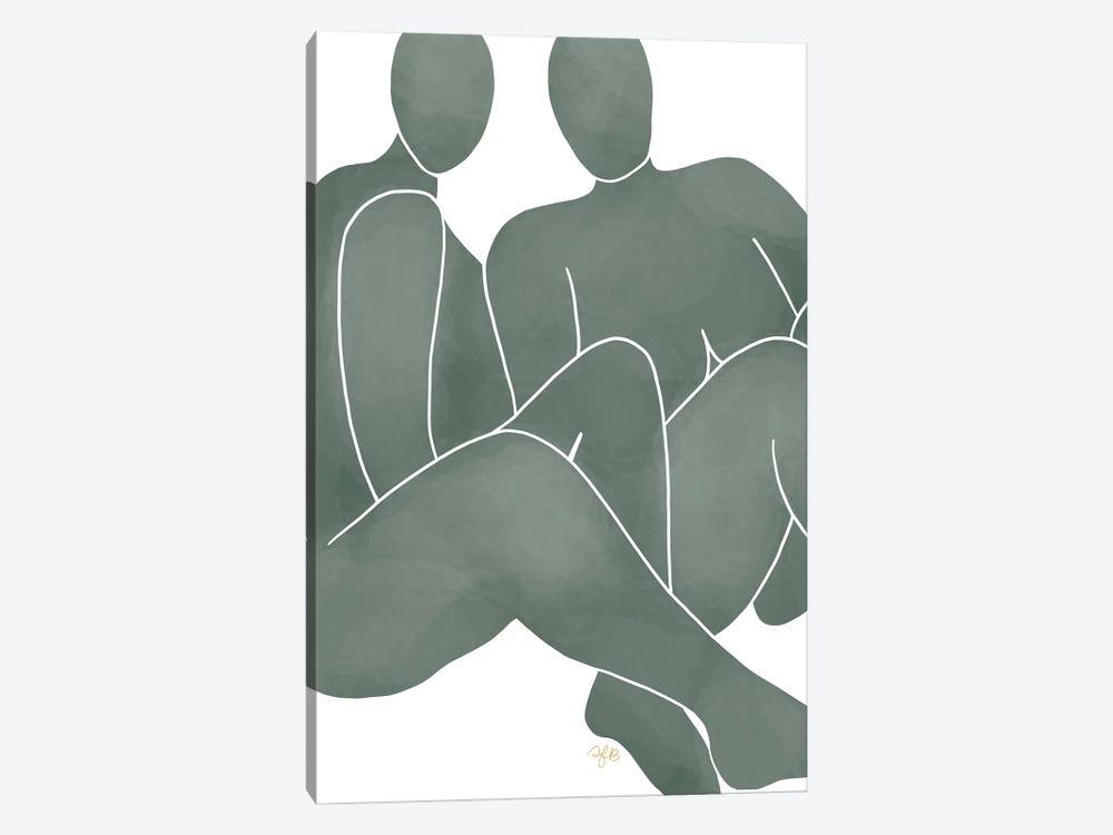 Figures Sitting by Figure Form 1-piece Canvas Art