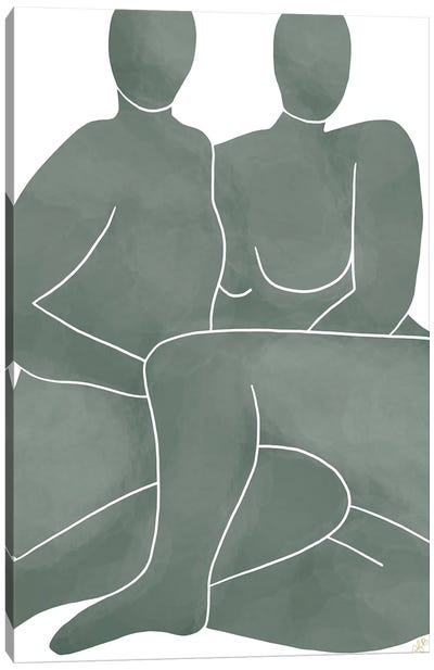 Figures Posing Canvas Art Print