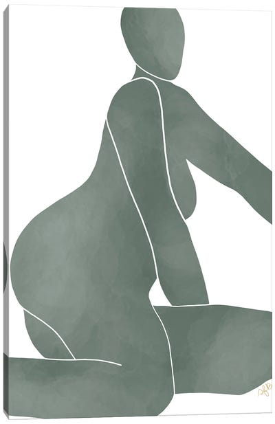 Figure Reaching Canvas Art Print