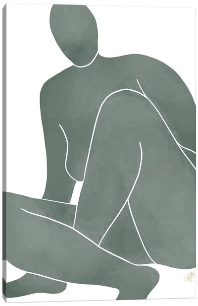 Figure Rising Canvas Art Print