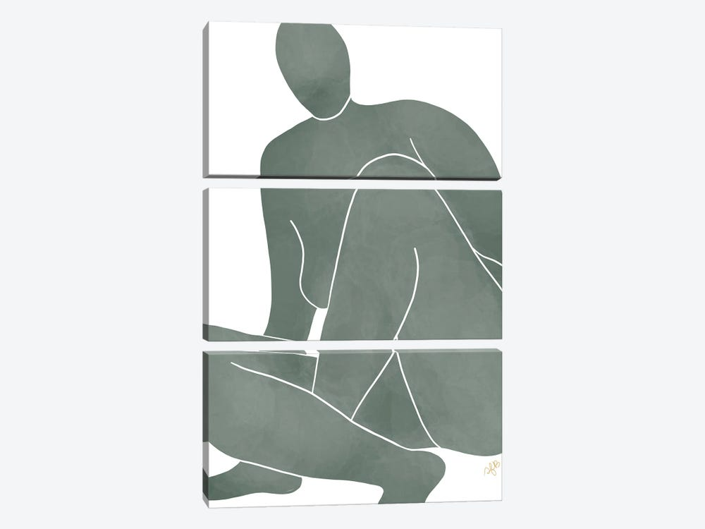 Figure Rising by Figure Form 3-piece Canvas Art