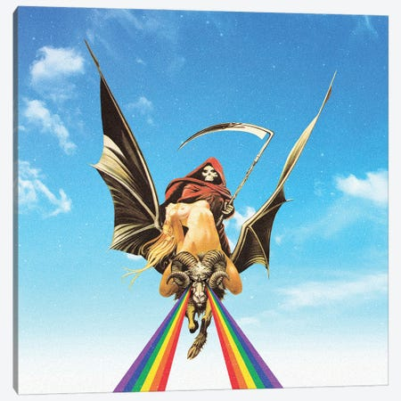 Road To Hell Canvas Print #FGM24} by Figaro Many Canvas Wall Art