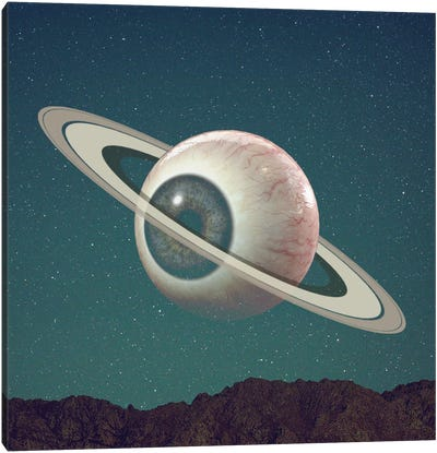 Saturn Eye Canvas Art Print