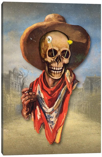 Dead West Canvas Art Print