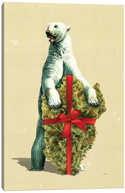 Santa Bear Canvas Art Print