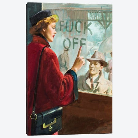 F*ck Off Canvas Print #FGM7} by Figaro Many Canvas Artwork