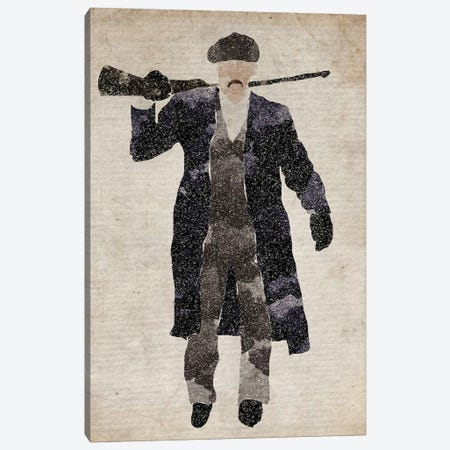 Peaky Blinders Arthur Shelby Armed Canvas Print #FHC164} by FisherCraft Canvas Art Print