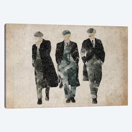 Peaky Blinders The Shelby Boys In Grey Canvas Print #FHC168} by FisherCraft Canvas Wall Art