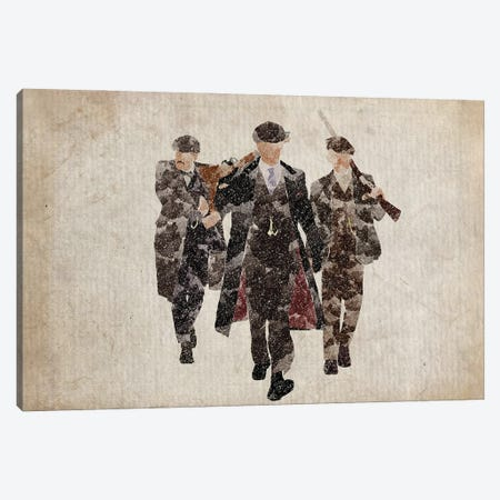 Peaky Blinders The Shelby Boys In Brown Canvas Print #FHC169} by FisherCraft Canvas Art