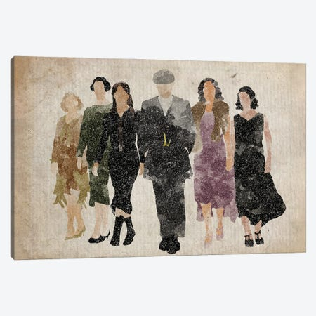 Peaky Blinders Tommy With The Women Canvas Print #FHC172} by FisherCraft Art Print