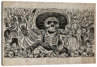 Jose Guadalupe Calavera Oaxaqueña Canvas Art Print