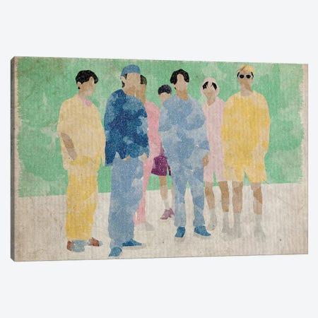 BTS Bangtan Boys Dynamite Green Canvas Print #FHC17} by FisherCraft Canvas Art Print