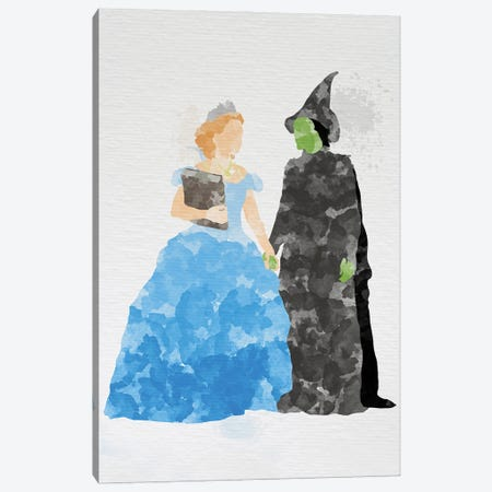 Glinda And Elphaba Canvas Print #FHC36} by FisherCraft Canvas Print