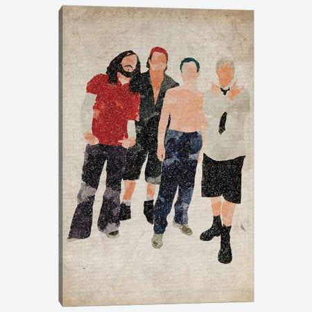 Red Hot Chili Peppers Canvas Print #FHC71} by FisherCraft Canvas Wall Art