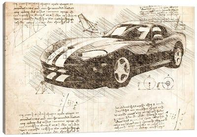 Sepia 2003 Dodge Viper Zb I Muscle Car Canvas Art Print