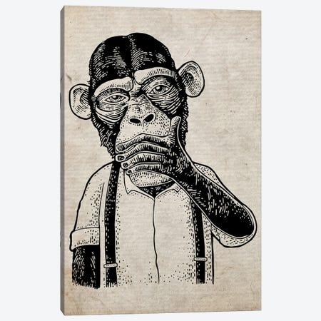 Speak No Evil On Old Paper Canvas Print #FHC96} by FisherCraft Canvas Art Print