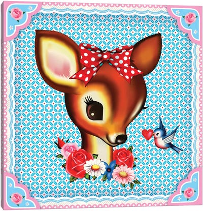 Deer Head Canvas Art Print