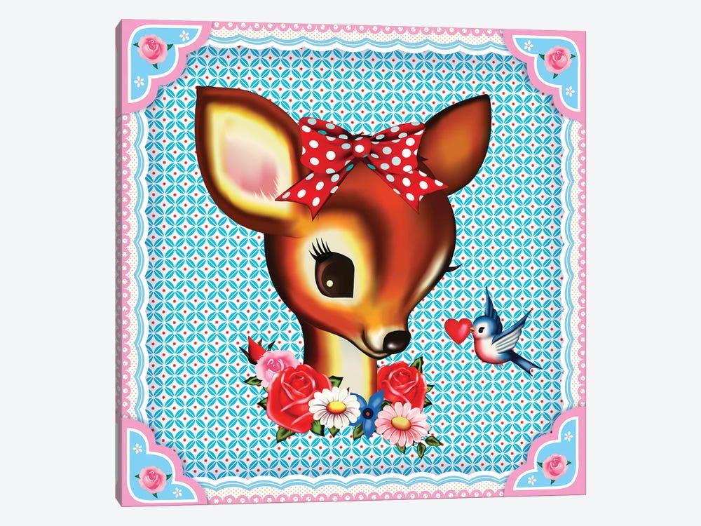 Deer Head by Fiona Hewitt 1-piece Canvas Print