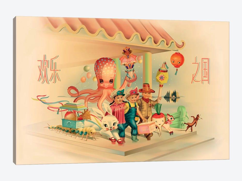 Kingdom Of Happy Joy by Fiona Hewitt 1-piece Canvas Print