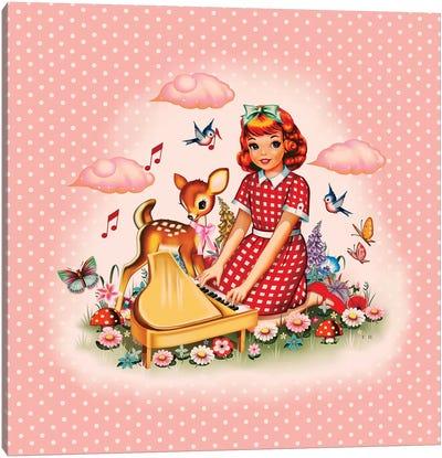 Piano Girl Canvas Art Print