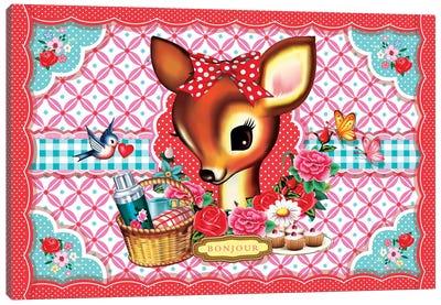 Picnic Deer Canvas Art Print