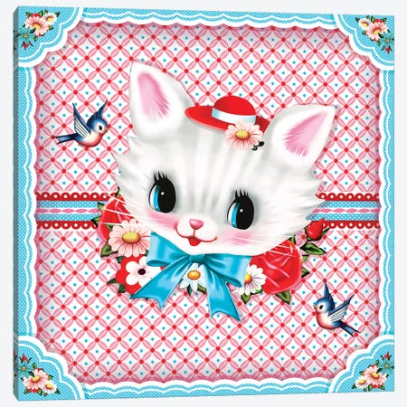 Sweet Kitty Canvas Print #FHE25} by Fiona Hewitt Canvas Wall Art