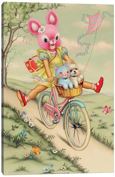 Bunny Bike Canvas Art Print
