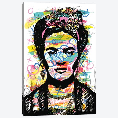 Frida Kahlo Canvas Print #FJB125} by Frank Banda Canvas Art