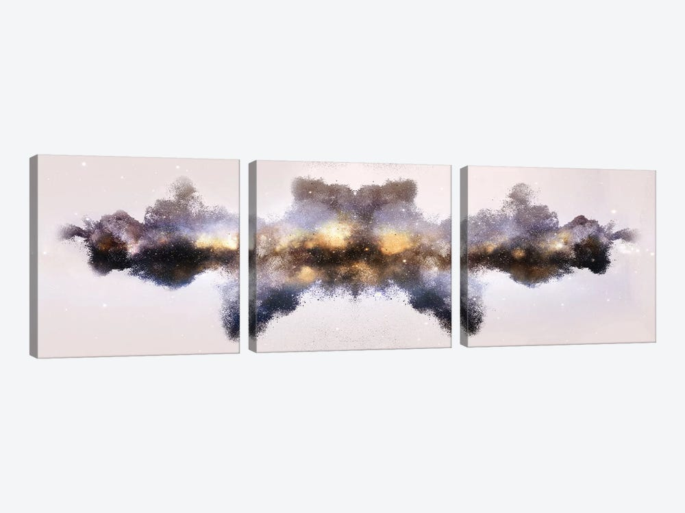 Nebula de Arena, Gold by Frank Banda 3-piece Canvas Art