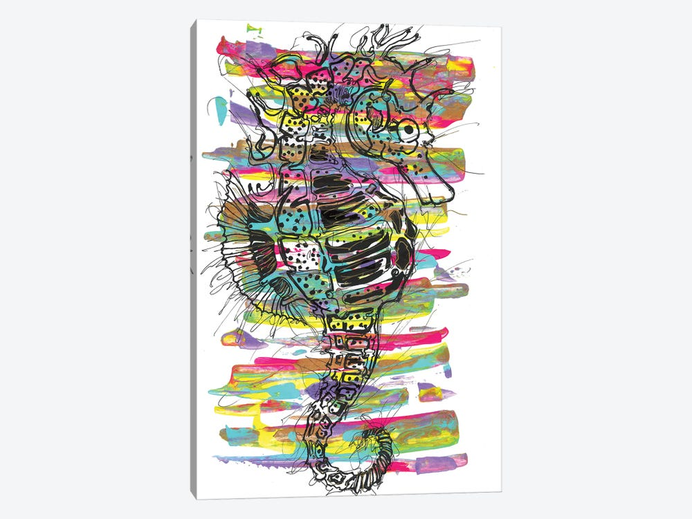 Seahorse by Frank Banda 1-piece Canvas Artwork