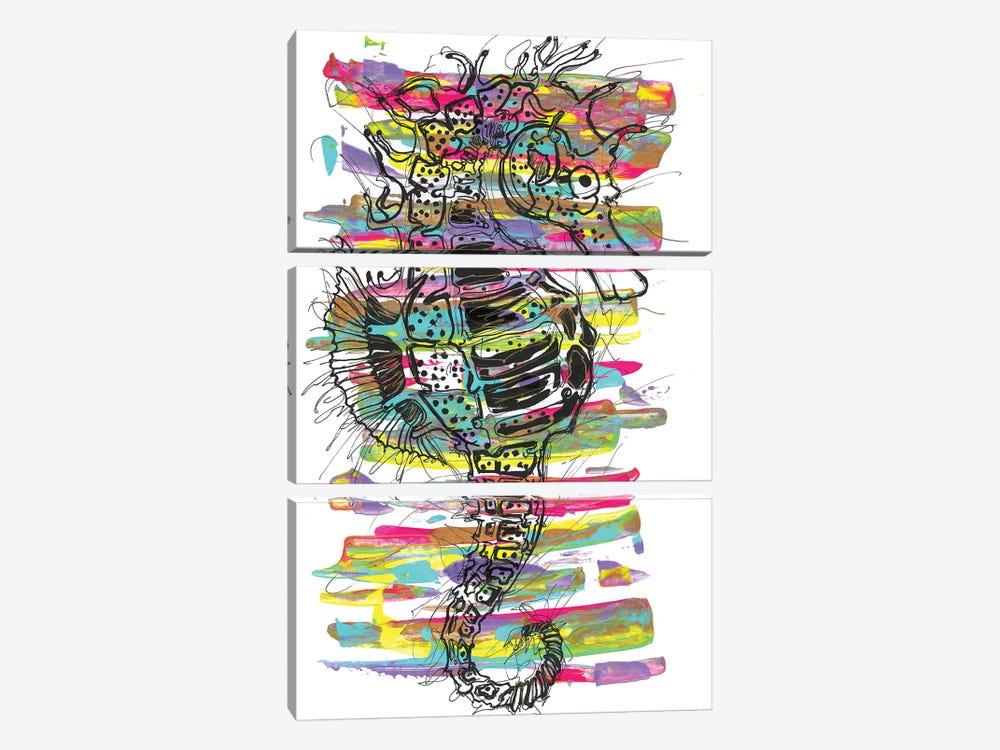 Seahorse by Frank Banda 3-piece Canvas Artwork