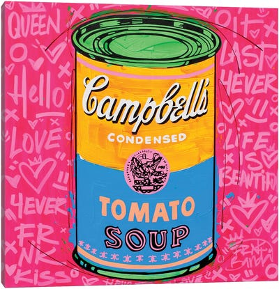Special Campbell's Pink Soup Canvas Art Print
