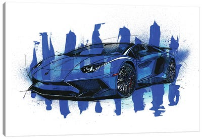 Aventador SV LP750-4 Canvas Art Print