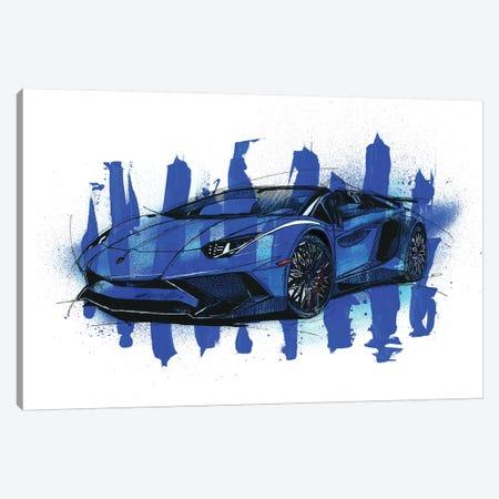 Aventador SV LP750-4 Canvas Print #FJB15} by Frank Banda Art Print